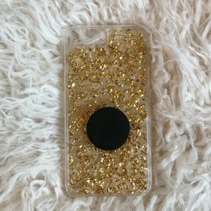GOLD FLAKES CASEMATE IPHONE CASE  (8+ COMPATIBLE)